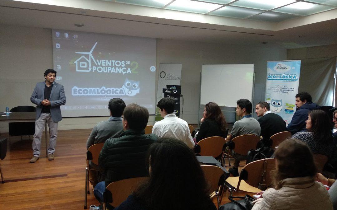"""OesteSustentável realiza sessão de esclarecimentos da competição interescolar """"Ventos de Poupança 2: Energia+Social"""""""