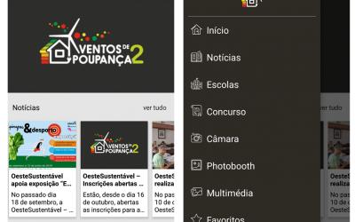 """OesteSustentável lança app de comunicação no âmbito da competição interescolar """"Ventos de Poupança 2: Energia + Social"""""""