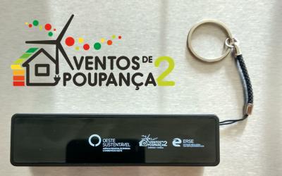 """OesteSustentável ofereceu 3 baterias portáteis através de um desafio relâmpago no âmbito da competição interescolar """"Ventos de Poupança"""""""